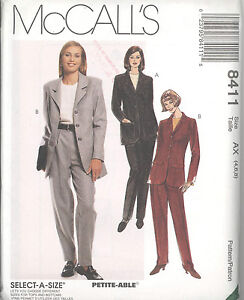 McCall-039-s-8411-Misses-039-Lined-Jacket-Top-and-Pants-Sewing-Pattern