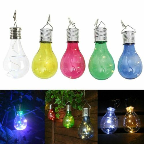 Outdoor Waterproof Solar LED Bulb Rotatable Hanging Decor Garden Night Light