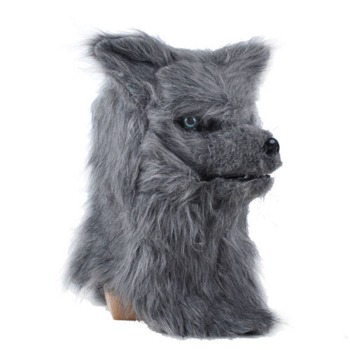 1x Cosplay Scary Grey Wolf Moving Mouth Masquerade Mask Animal Halloween Mask