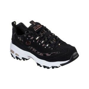 Skechers-Women-039-s-D-039-Lites-Fancy-Leopard-Sneaker
