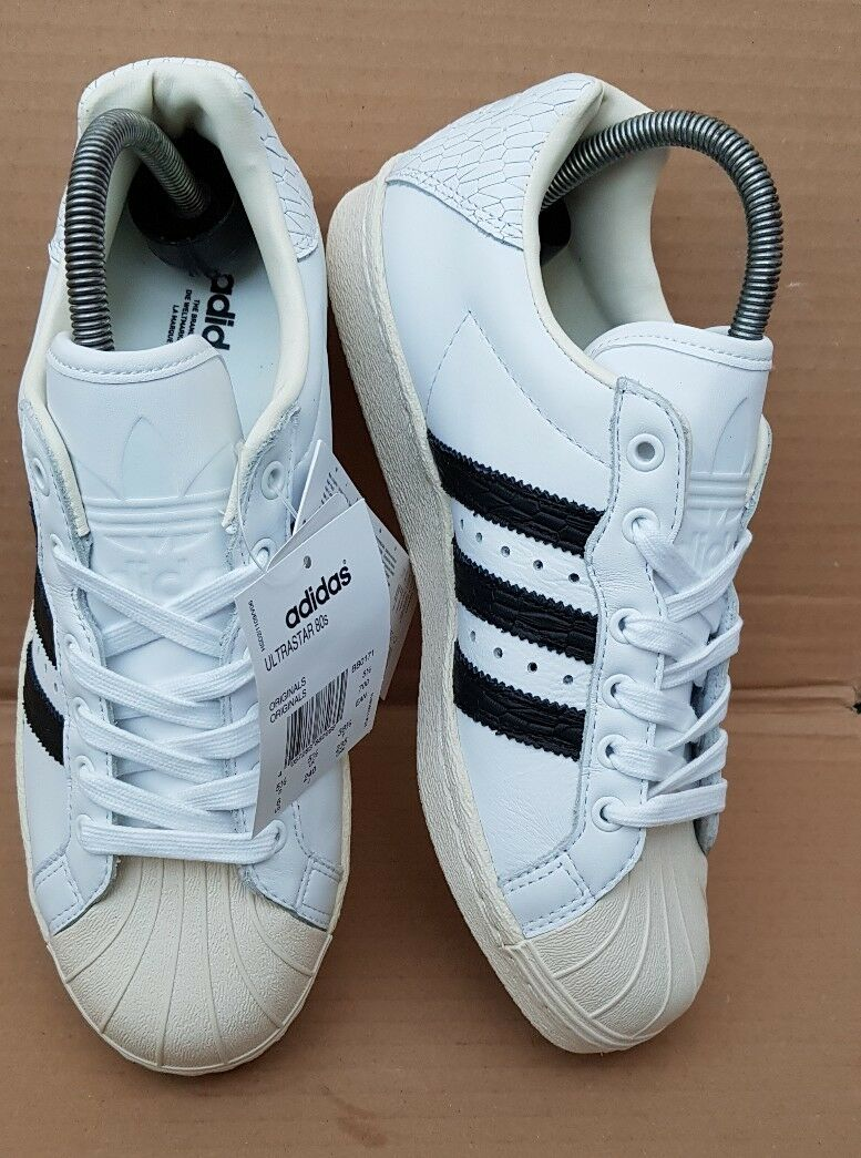 BNIB ADIDAS SUPERSTAR ULTRASTAR 80's TRAINERS SNAKE SIZE 5.5 UK VERY RARE NEW