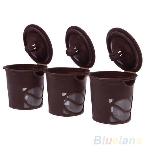 3X Quality Reusable Single Cup Solo Filter Pod K-Cup Stainless Coffee Mesh BH2U