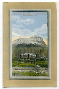 The Great Divide Rocky Mountains Canada 1910c postcard