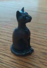 Pequeña Figura De Gato De Bronce, Estilo Egipcio