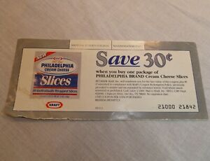 Coupon-for-Philadelphia-Cream-Cheese-Slices-Save-30-Obsolete-Collector-039-s-Copy