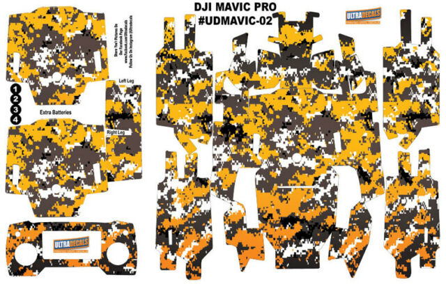 1 Sticker Autocolant pour DJI Mavic Pro et Batterie