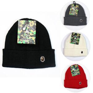 e64fe41a New Bape A BATHING APE Solid Color Warm Winter Knit Beanie Hat ...