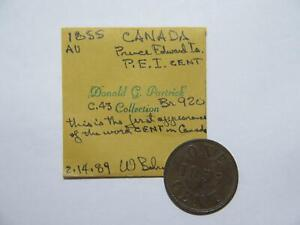 CANADA 1855 FISHERIES AGRI. HALF 1/2 PENNY TOKEN EX:DONALD G PARTRICK BR-920 #MM