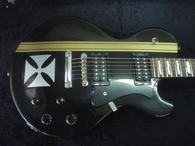 James hetfield iron cross custom guitar stickers explorer metallica