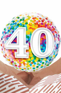 Image Is Loading 40th Birthday Rainbow Balloon In A Box Gift