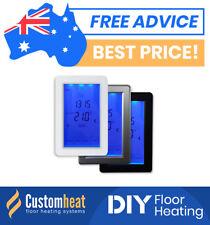 Touchscreen Thermostat Under Floor Heating Heated Towel Rack Rail - Heated floor timer