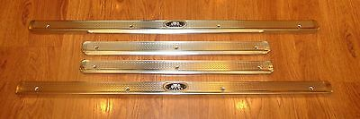 1955 56 1957 CHEVY BODY BY FISHER DOOR SILL PLATES 4 door Sedan & STATION WAGON
