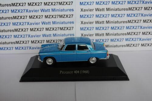 1968 SALVAT Autos Inolvidables Argentine 1//43 ème VOITURE Peugeot 404