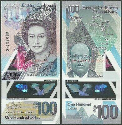 East Caribbean States 50 Dollars p-new 2019 Polymer Banknote UNC counting mark