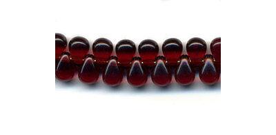 100 Czech glass teardrop beads size 4x6mm -choice of colours