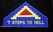 7TH ARMY HAT PATCH US ARMY GENERAL PATTON Palermo Messina PIN UP 7 STEPS TO HELL