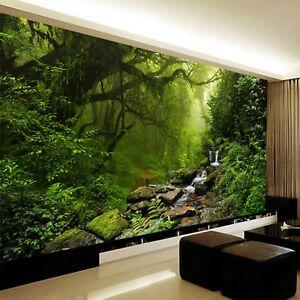Photo Wallpaper 3D Stereo Virgin Forest Nature Landscape Wall Mural