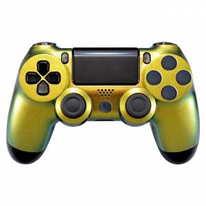 PS4 Controller JDM-040 Case Cover Hülle Gehäuse Front Chamelon Gold Slim Pro