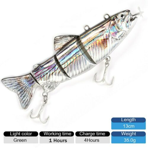 Fishing Lures Robotic Swimming-Auto Electric Lure Bait Wobblers For 4-Segement