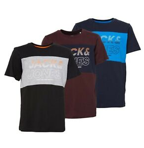 Boys-Jack-And-Jones-Short-Sleeve-Jersey-T-Shirt-Sizes-Age-from-7-to-14-Yrs