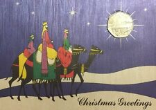 1990 Isle of Man Christmas 50p Fifty Pence  Coin Card Lady Of Mann Ferry BUNC