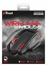Trust 20687 GXT130 Ratón Inalámbrico Óptico para Juegos con ajustable de 800 a 2400 DPI