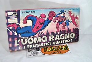 L-039-UOMO-RAGNO-E-I-FANTASTICI-QUATTRO-Editrice-GIOCHI-1-VERSIONE-anno-1978-NUOVO
