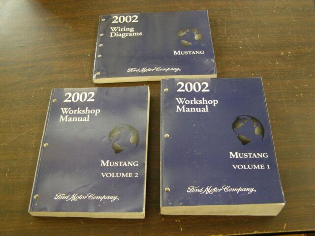Oem Ford 2002 Mustang Shop Manual Books   Wiring Diagram