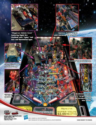 Transformers Pro Stern Pinball Game Flyer Brochure Promo Ad 2011