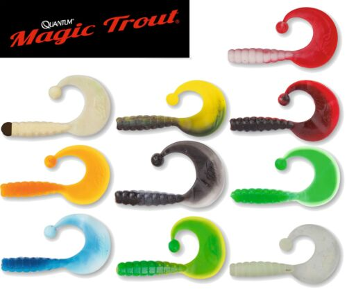 Quantum Magic Trout Curly B-Bobbles Forellenköder 35 Jigs Gummijigs Köder