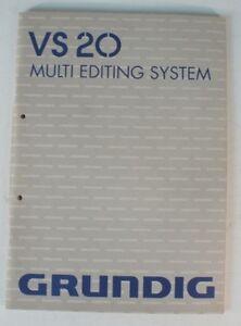 Grundig-VS-20-Multi-Editing-System-User-Guide-Bedienungsanleitung-Manual-B7442