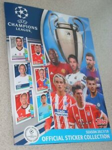 UEFA-Champions-League-Official-Sticker-Album-034-TOPPS-034-6-stickers-inside-2017-18
