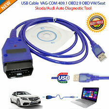 Cable USB 409.1 OBD2 VAG COM OBD Diagnóstico Escáner VW/Audi/Seat Vcd UK