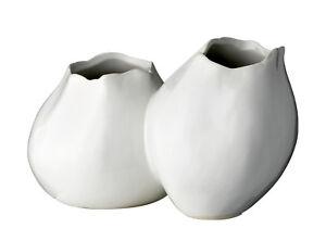 Das Bild Wird Geladen Bloomingville 2er Vase Weiss  Keramik Vintage Deko Skandi