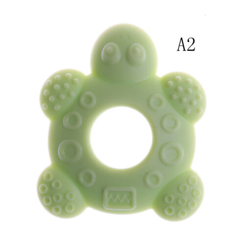 Baby Teether Teething Collares Pacifier Clips Chew Toy Silicone BPA FREE ed
