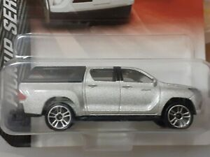 Majorette Toyota Hilux Silver with Cabin Cover Scale 1:64 diecast model