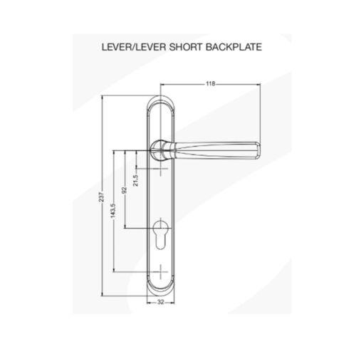 White Chrome Black Gold Flint Lever or Pad Quality Door Handles Set UPVC