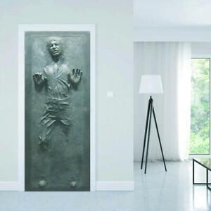 Han-Solo-Carbonite-DOOR-WRAP-Decal-3d-Wall-Sticker-Mural-Home-Decor-Star-Wars
