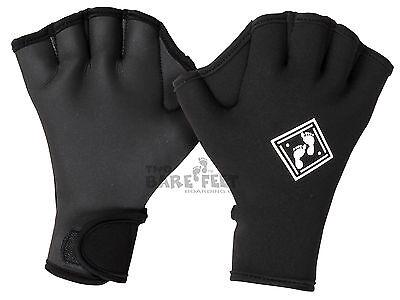 TBF Swim Training Gloves - Webbed 3mm Neoprene Fitness Toning Technique