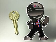 MARTINI RACING Classic DRIVER 2 fingered salute car STICKER Porsche BMW Lancia