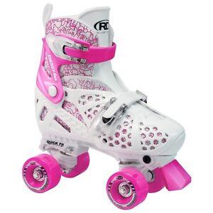 Roller Derby Trac Star Youth Girls Adjustable Roller Skate - M - 12-2 White/Pink