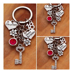 Image Is Loading Happy Birthday Gift Keyring Mum Daughter Sister 16t18th