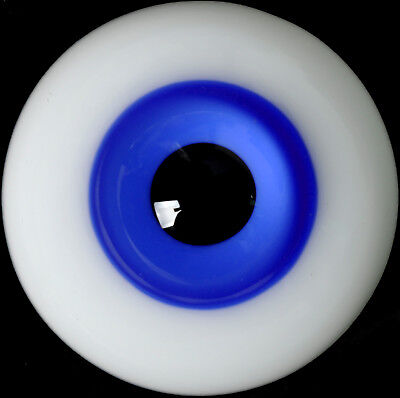 light Blue Iris/&Black pupil NICE 8mm Glass Eyes for OOAK BJD Doll