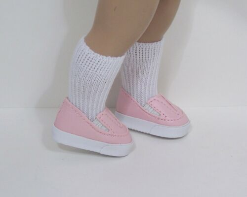 """LT PINK Simple Loafers Doll Shoes For 10/"""" Ann Estelle Sophie Patsy Debs"""