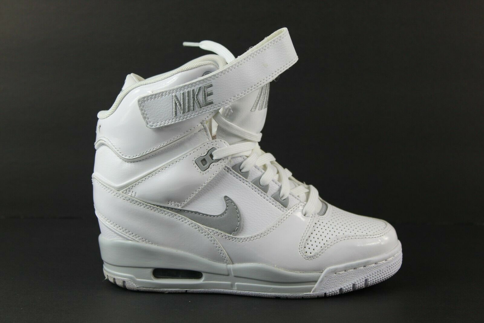 WMNS Nike Air Revolution Sky Hi Wedge Sz 6.5 White Gray Sneakers Rare 599410 102