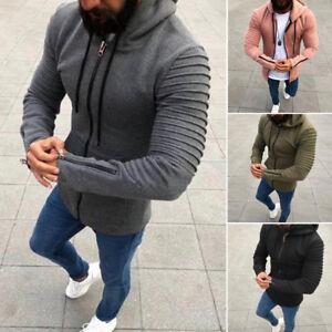 Men-039-s-Premium-Full-Zip-Up-Hoodie-Classic-Zipper-Hooded-Sweatshirt-Cotton-Soft