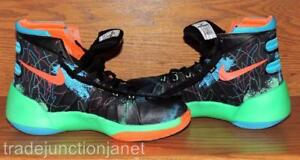 31194e825f5a NIKE ZOOM SIZE 5Y YOUTH BLACK w NEON COLORS HIGH TOPS ...