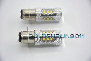 For Yamaha Bruin 250 350 Super White 80W LED Headlights Bulbs 2005-2009
