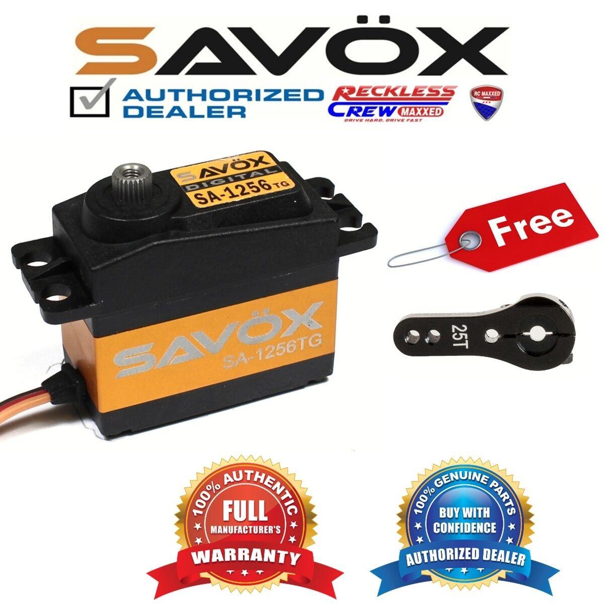 Savox SA-1256TG Digital Servo Coreless + Gratis Aluminio Negro Servo Horn