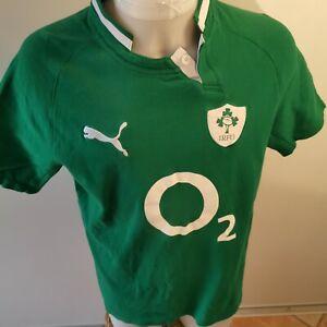 RETRO-maillot-de-rugby-IRLANDE-marque-puma-taille-L